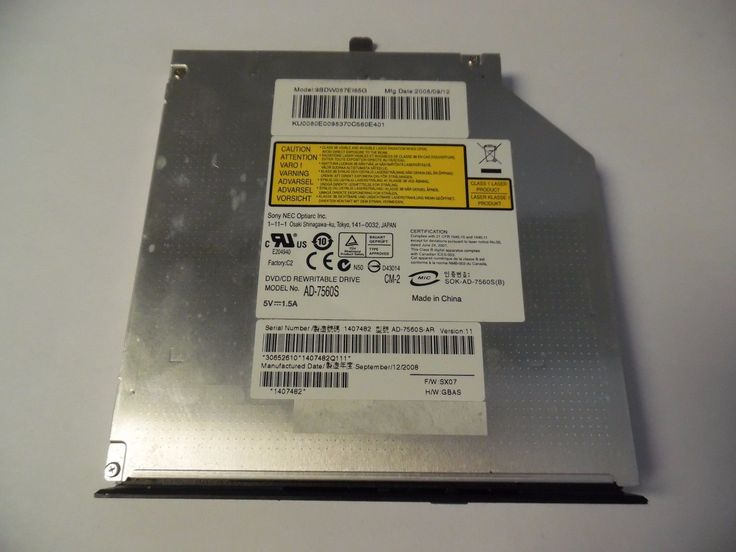 Acer Aspire 6930 Series 8X DVDRW SATA Burner Drive AD-7560S (A40-19)