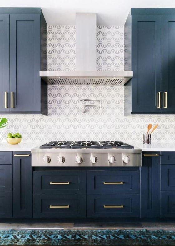 21 Gorgeous Dark Blue Kitchen Cabinets | Dark blue kitchen ...