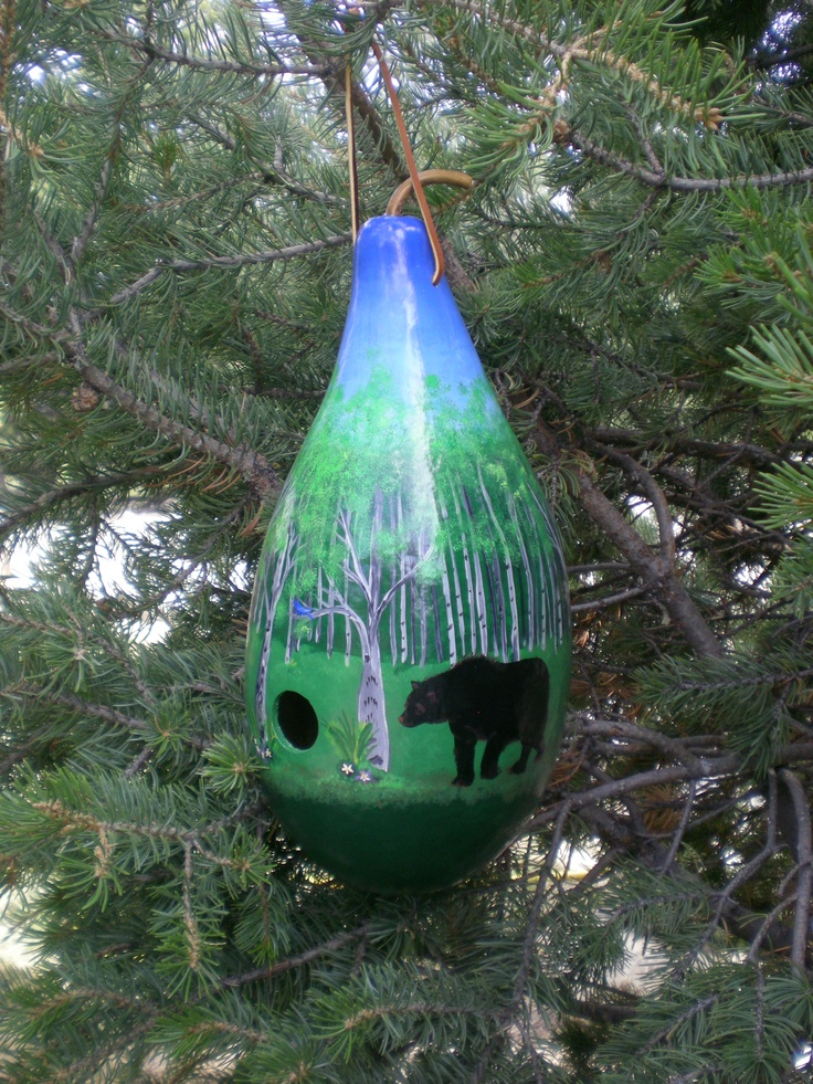 Hand painted gourd birdhouse. https://www.facebook.com/pages/Howard-Creek-Creations/242174309138608: Gourds Birdhouses, Gourds Gourds Art, Gourds Decor, Art Ideas, Hands Paintings Gourds, 600800 Pixel, Diy Gourds, Gourdsgourd Art, Gourds Artists