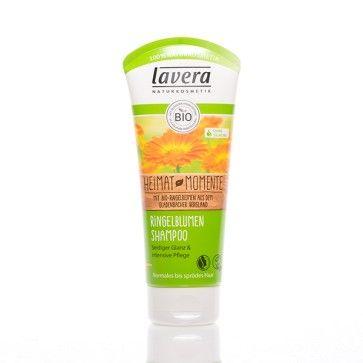 lavera Ringelblumen-Shampoo 200ml. Milde Tenside auf Pflanzenbasis mit dem verlockenden, frischen Duft von Ringelblumen. Mmmmm. Das lavera Ringelblumen Shampoo pflegt das Haar intensiv, reinigt es besonders schonend und verleiht ihm einen seidigen Glanz.