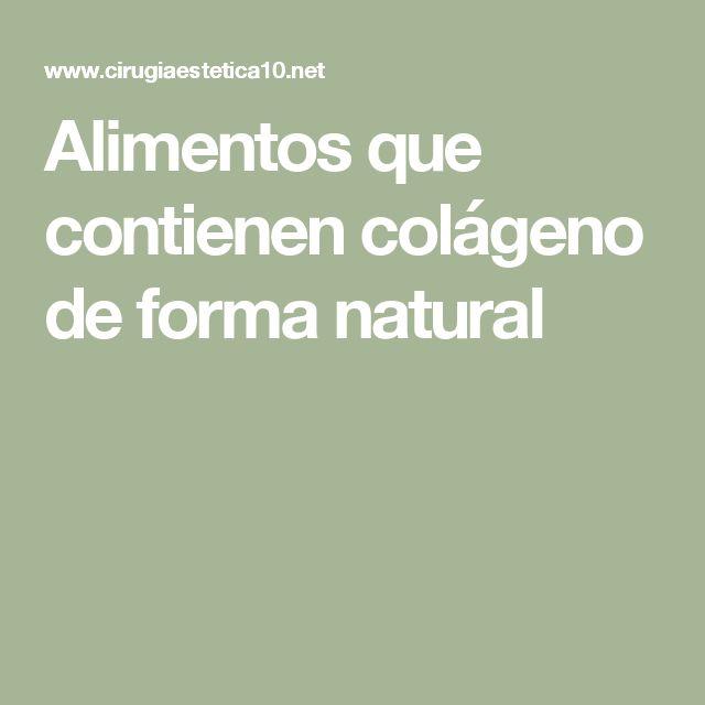Alimentos que contienen colágeno de forma natural