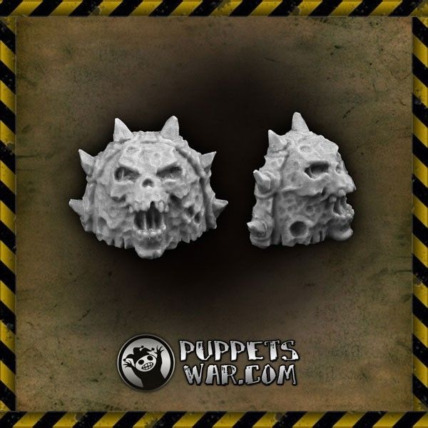 Disgusting #shoulder #pads of #Plague Guard https://puppetswar.eu/product.php?id_product=171 https://puppetswar.eu/product.php?id_product=170  #puppetswar #bits #parts #resin #fun #game