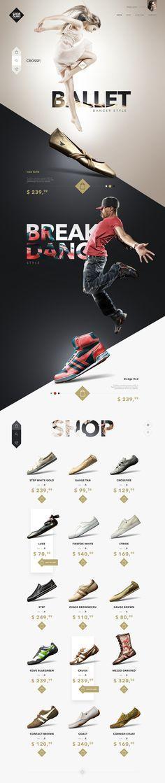 SHOE GURU Shop – Ui design and visual concept.