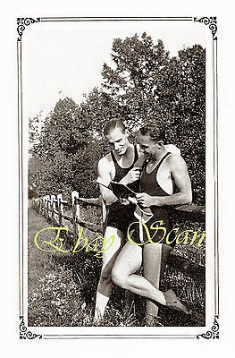 #Vintage #1920's photo sexy affectionate gay men in swim #suits hug gay interest ,  View more on the LINK: http://www.zeppy.io/product/gb/2/291461697950/