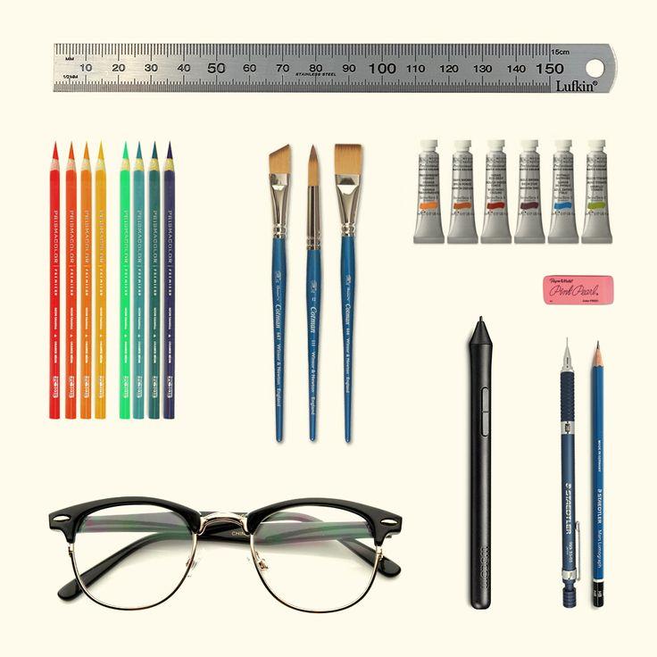 Illustration tools by Jeffery Woodrow