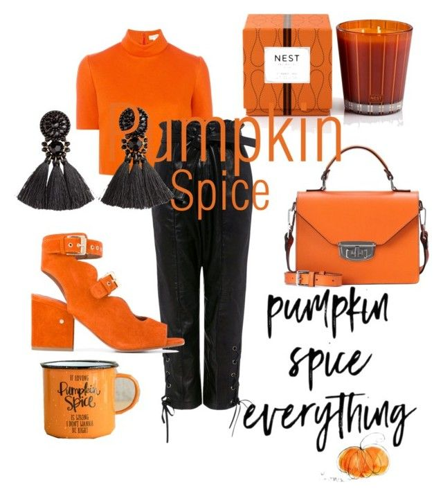 """""""Pumpkin Spice"""" by emmamashilo on Polyvore featuring Delpozo, Marissa Webb, Laurence Dacade, H&M, Ganni and Nest Fragrances"""