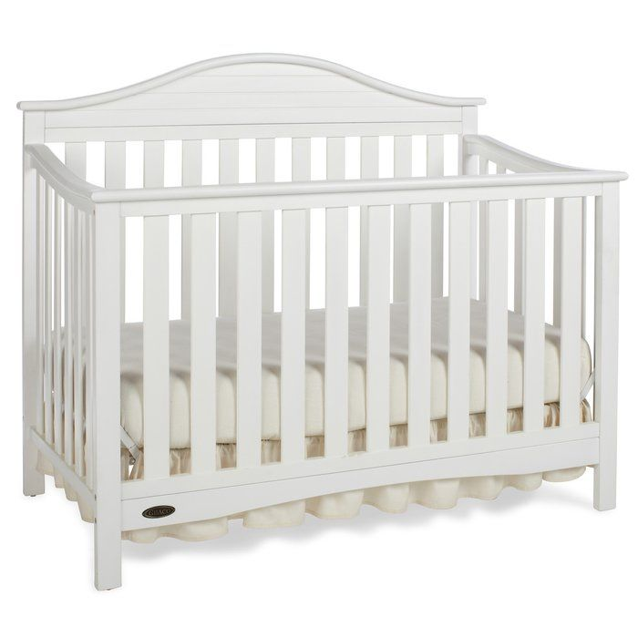 Boasting transitional style with a touch of nautical flare, the Graco Harbor Lights Convertible Crib creates a cozy sleep environment that you and your baby will both love. Featuring a uniquely designed headboard, this stunning crib will provide the utmost elegance to your baby's room. This Graco convertible crib will be a staple in your child's room for years to come, as it easily changes from a crib to a toddler bed, a daybed and a full-size headboard with footboard.