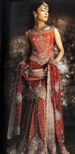 Bridal Lehenga in Rusty Orange