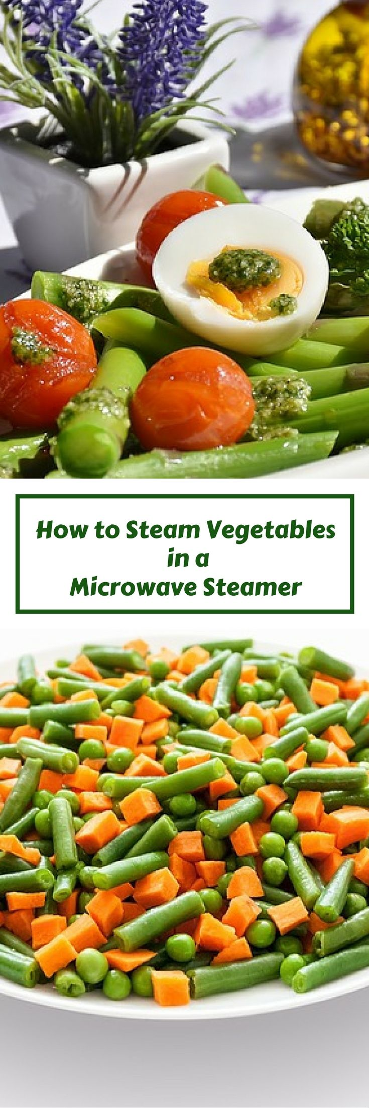 How to Steam vegetables in a microwave steamer successfully