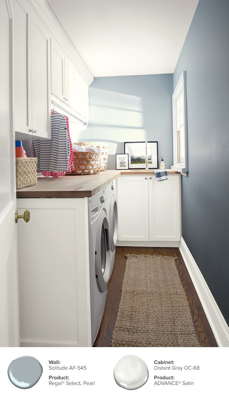 Paint Ideas and Inspiration  Benjamin Moore  Laundry room colors
