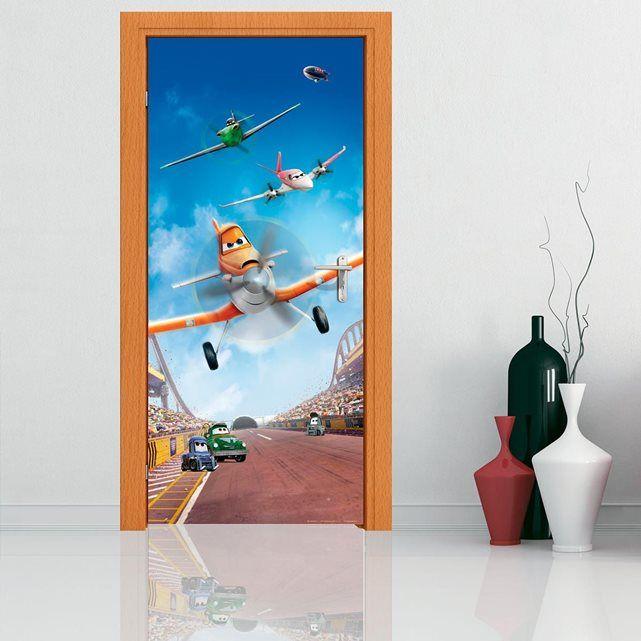 Poster porte Escadron en vol Planes Disney