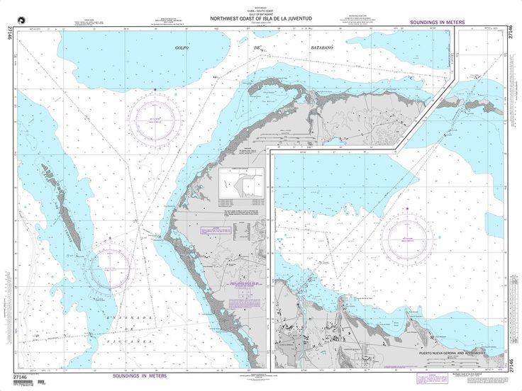 NGA Chart 27146: Northwest Coast of Isla de la Juventud