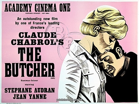 Academy Poster for Claude Chabrol's The Butcher (1970).  Copyright © Estate of Peter Strausfeld