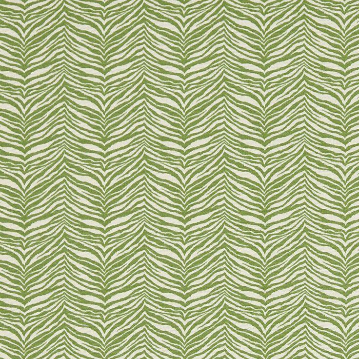 Green Zebra Print Fabric Upholstery