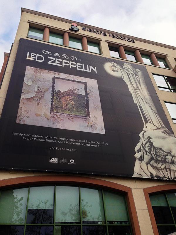 Led Zeppelin! The Warner Music building in Burbank, California, Nov. 27, 2014.