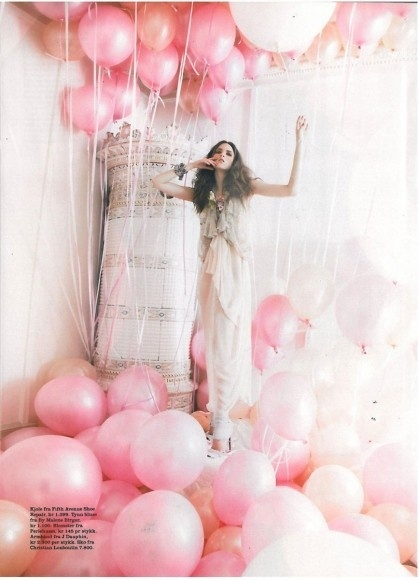 party pink balloons