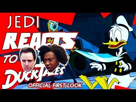 JEDI REACTS!: Ducktales First Look  || Life is like a hurricane here in Duckburg. Which is why all windows are reinforced and mobile homes are banned. Join us as we react to the first look of an animated series about a rich business magnate as he attempts to run for President of the United States...[What? He's not running for president? He spends his money on globe spanning adventures with his family...? ] Join as we react to the first look of an animated series based on the life of Elon…