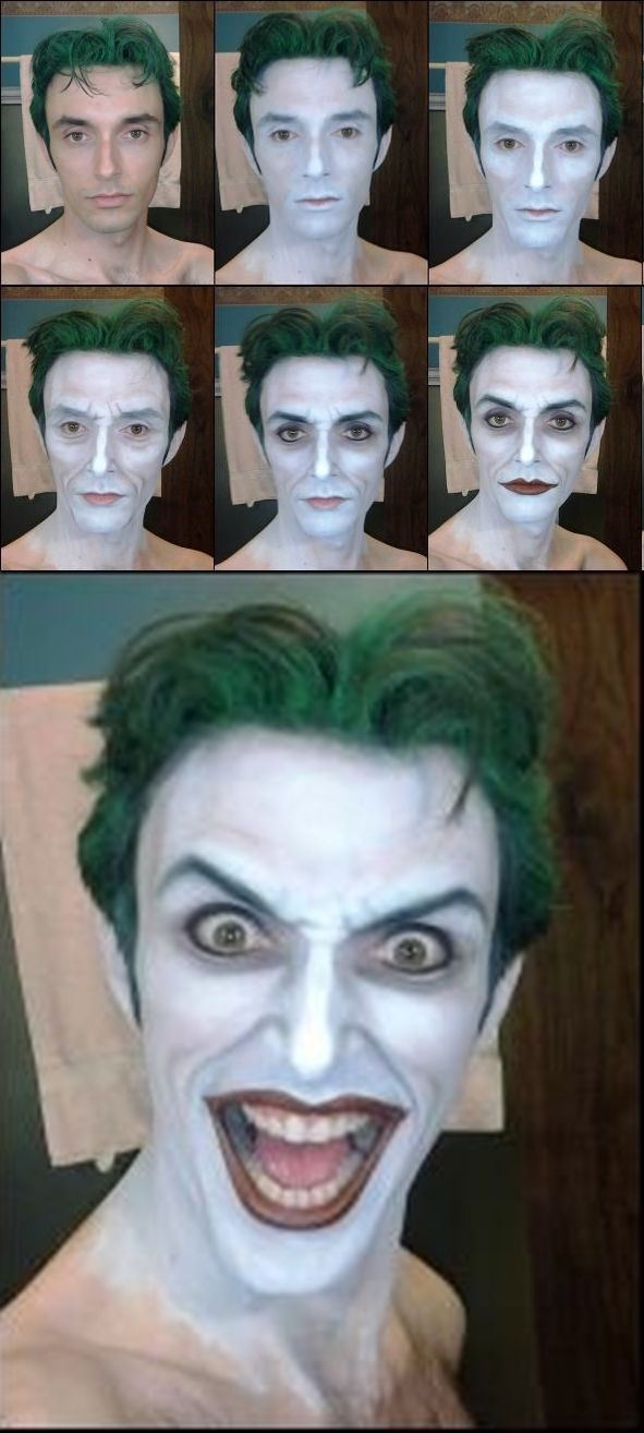 anthony misiano joker makeup - Google Search