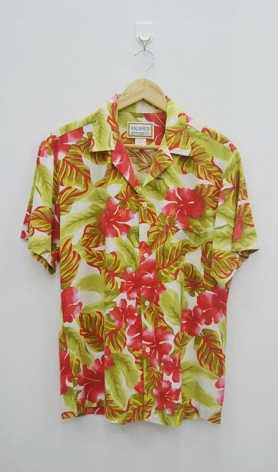 KALAHEO Shirt Vintage Kalaheo Hawaiian Traditionals All Over