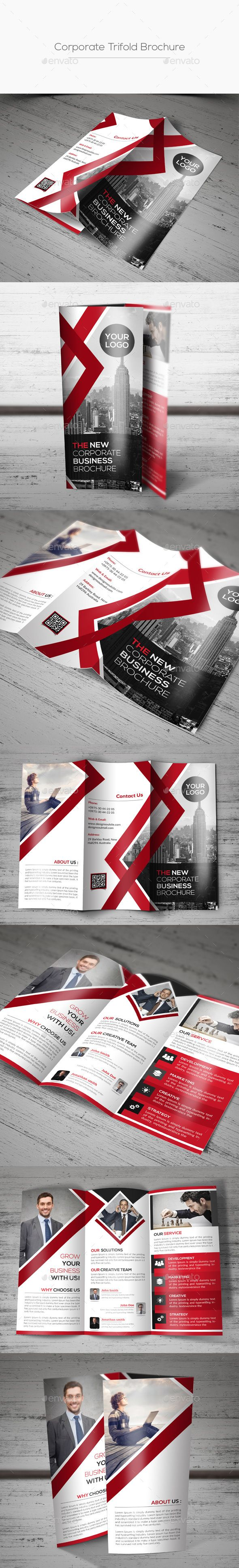 Corporate Trifold Brochure Template PSD #design Download: http://graphicriver.net/item/corporate-trifold-brochure/13418637?ref=ksioks