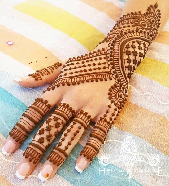 Bridal Mehndi On Hands http://www.maharaniweddings.com/gallery/photo/88686