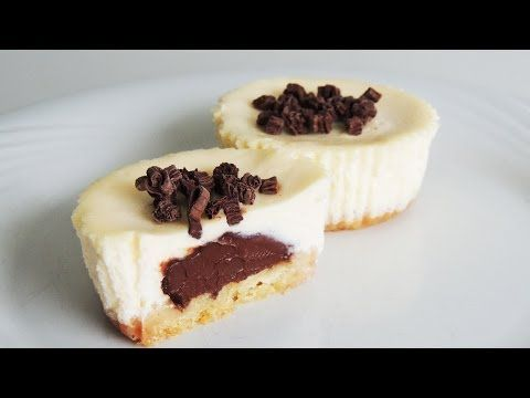 nutella surprise cheesecakes easy mini cheesecake recipe cakes pinterest nutella. Black Bedroom Furniture Sets. Home Design Ideas