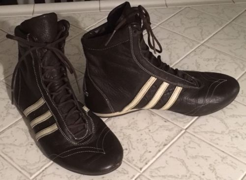 Wrestling High Tops ADIDAS Boxing Boots Luxury Sport Brown Sz 6.5 US Vintage