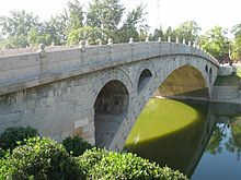 Anji-Brücke, älteste Segmentbogenbrücke in China.