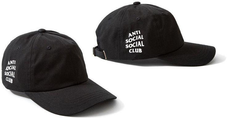 New Antisocial Social Club Anti Social Club Hat Baseball Cap Black #Handmade #BaseballCap