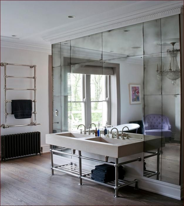 Aged Mirror Wall How To