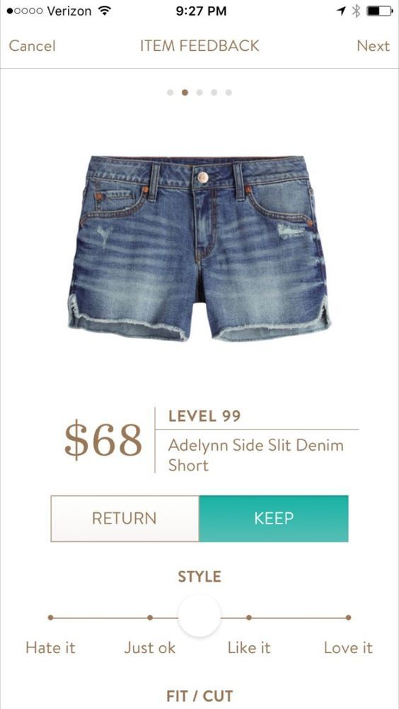Level 99 side slit denim cut offs. 2017 Spring & Summer fashion! Take the stress out of shopping for clothes & ask your Stitch Fix stylist to send you items like these. Delivered right to your door! #stitchfix #Sponsored