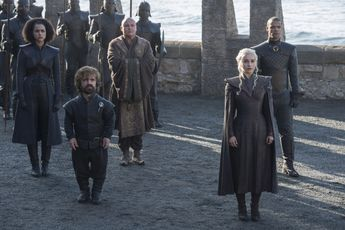 The dragon queen comes home: Daenerys Targaryen (Emilia Clarke) arrives at Dragonstone with Tyrion Lannister (Peter Dinklage), Missandei (Nathalie Emmanuel), Varys (Conleth Hill) and Grey Worm (Jacob Anderson)