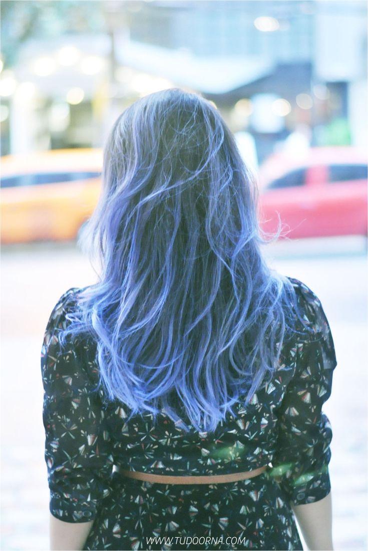 Cabelo Azul da Débora Alcântara : via Tudo Orna | Maior blog de Moda de Curitiba