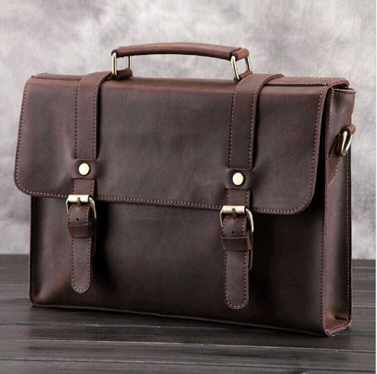 Brown leather bag h&m