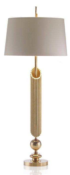 "43"" Brass Pipes Lamp"
