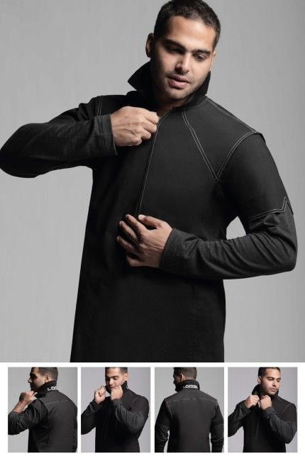 Advanced: A casual thobe made of 98 % cotton 2 % spandex, with a perfect combination of Polo collars with stretch heather arms and very comfortable thobe fabric, perfect for weekends, and hanging out with friends. It comes in 3 colors; White, Black and Brown.