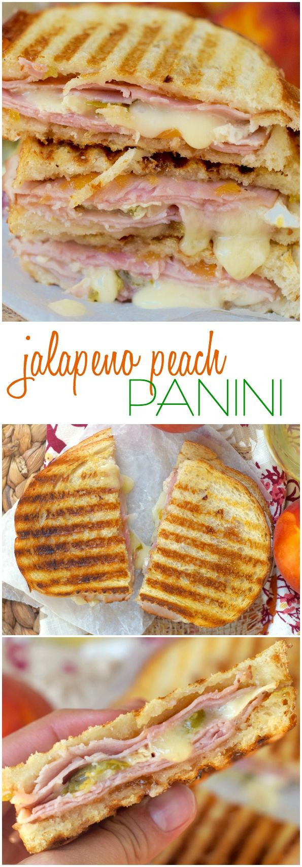 This Jalapeño Peach Panini is a serious combination of amazing flavors! I'm so obsessed with this sandwich I ate it for four meals in a row!