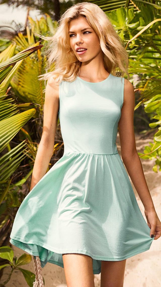Blue smart dress