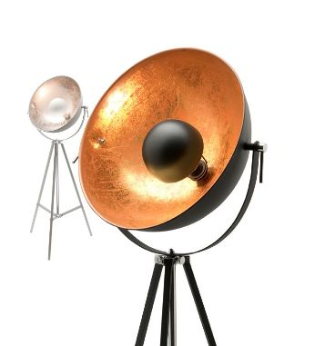 Coda Tripod Floor Lamp Black or Silver Mercator A86121