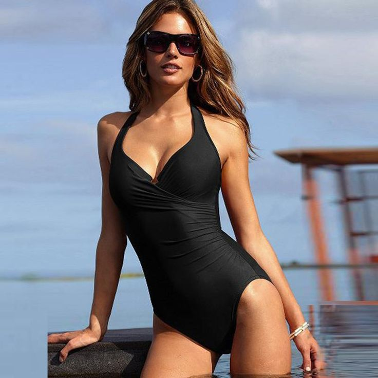 Korean Hot Spring Swimsuit Women Ins Style Sexy Deep V Fairy Fan Backless Belly Slimming Slim One