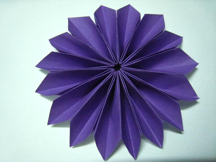 Purple Origami Dahlia