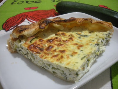 Ricette senza Nichel: TORTA SALATA CON ZUCCHINE RICOTTA E PASTA SFOGLIA nichel free | recipe | vegetarian food