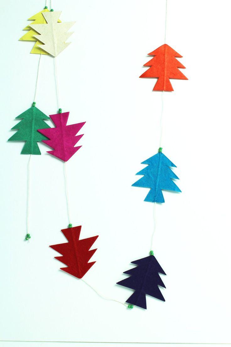 Deze kerstslinger is gemaakt in Nepal met een eigen Jansje ontwerp.Leuk voor in de kerstboom, in het raamkozijn of aan de deur! Straid laat deze producten in Nepal maken voor een eerlijk loon. Door het creëren van werkgelegenheid wordt direct de levensstandaard en daarmee de levensvreugde vergroot van de mensen die de producten maken. Gemaakt van Lokta papier en ongeveer 1.60 cm lang.  Afmetingen kerstboom:7cm hoog en 6 cm breed.