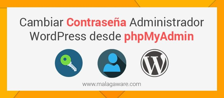 Cambiar contraseña admin en WordPress desde phpMyAdmin. Si no puedes acceder al backend de #WordPress porque no te acuerdas de la contraseña ni tampoco la puedes recuperar mediante email. La solución que te queda es cambiar la contraseña desde phpMyAdmin accediendo a la base de datos.