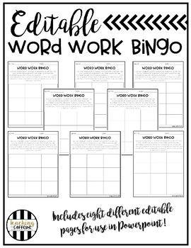 bingo card template