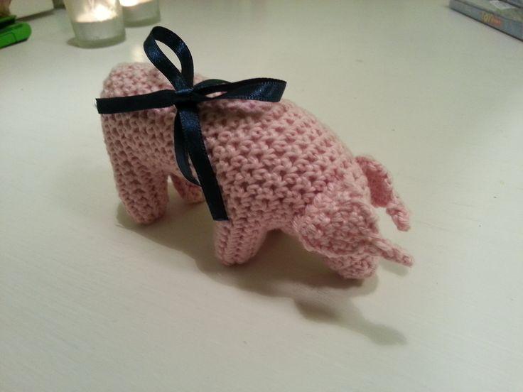 Hæklet Marcipangris  Crochet #Marzipan #Pig