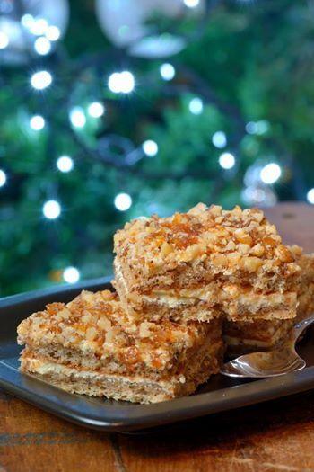 PRAJITURA CU NUCA CARAMELIZATA Cunoscuta si sub numele de Crantz, aceasta prajitura este o prajitura irezistibila cu crema de ou si nuca caramelizata. https://www.facebook.com/prajituridecasabyliliasa