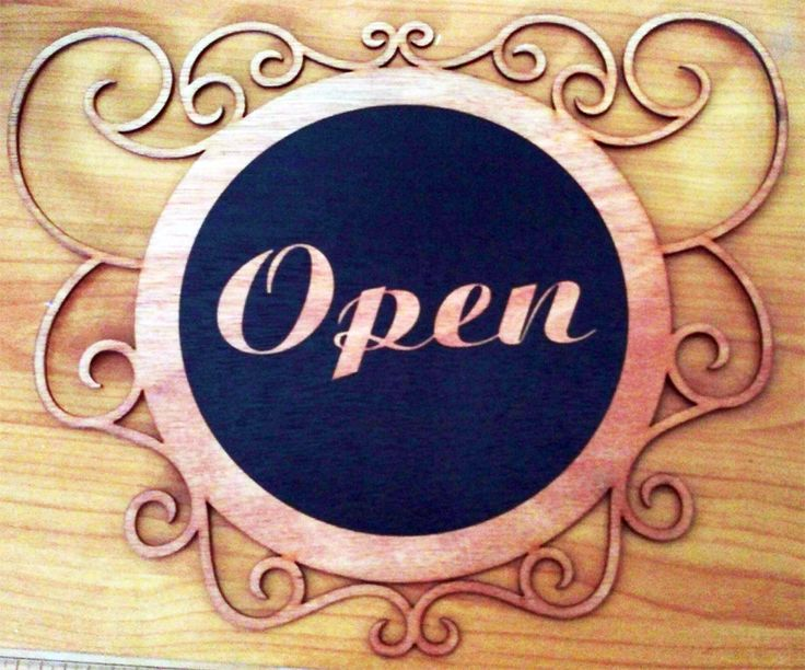 Catch an early bird customer or a late night one by using your own customized Open Sign.