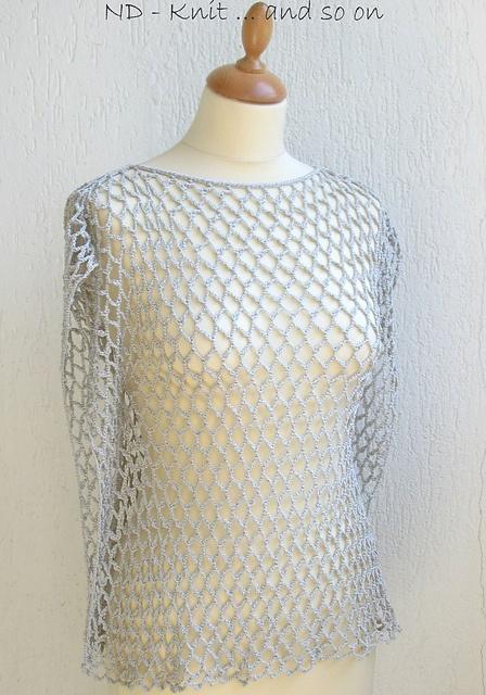 "Ravelry ""TULLE"" Coprispalle grigio perla pattern by"