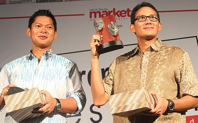 Raja Sapta Oktohari & Sandiaga Uno @ Entrepreneur Festival 2013
